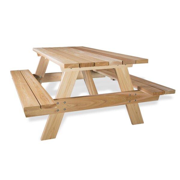 All things cedar cedar picnic table reviews wayfair for 10 person picnic table