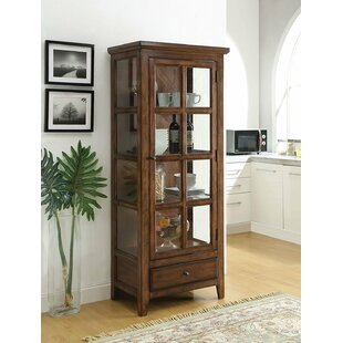 Charmine Wooden Lighted Curio Cabinet