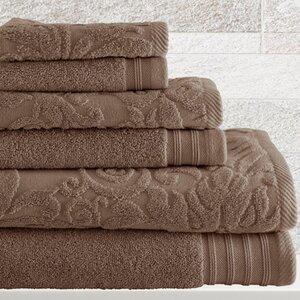Jarred 6 Piece Cotton Towel Set