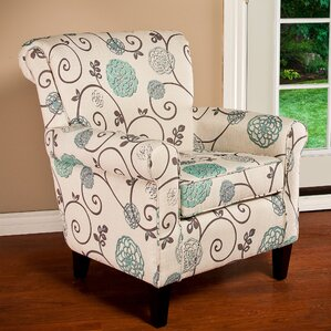 Wadham Flowered ArmchairFloral Accent Chairs   Accent Furniture   Wayfair. Aqua Leather Accent Chair. Home Design Ideas