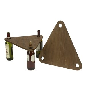 Montez Make-a-Table 2 Piece 3 Bottle Tabletop Wine Rack