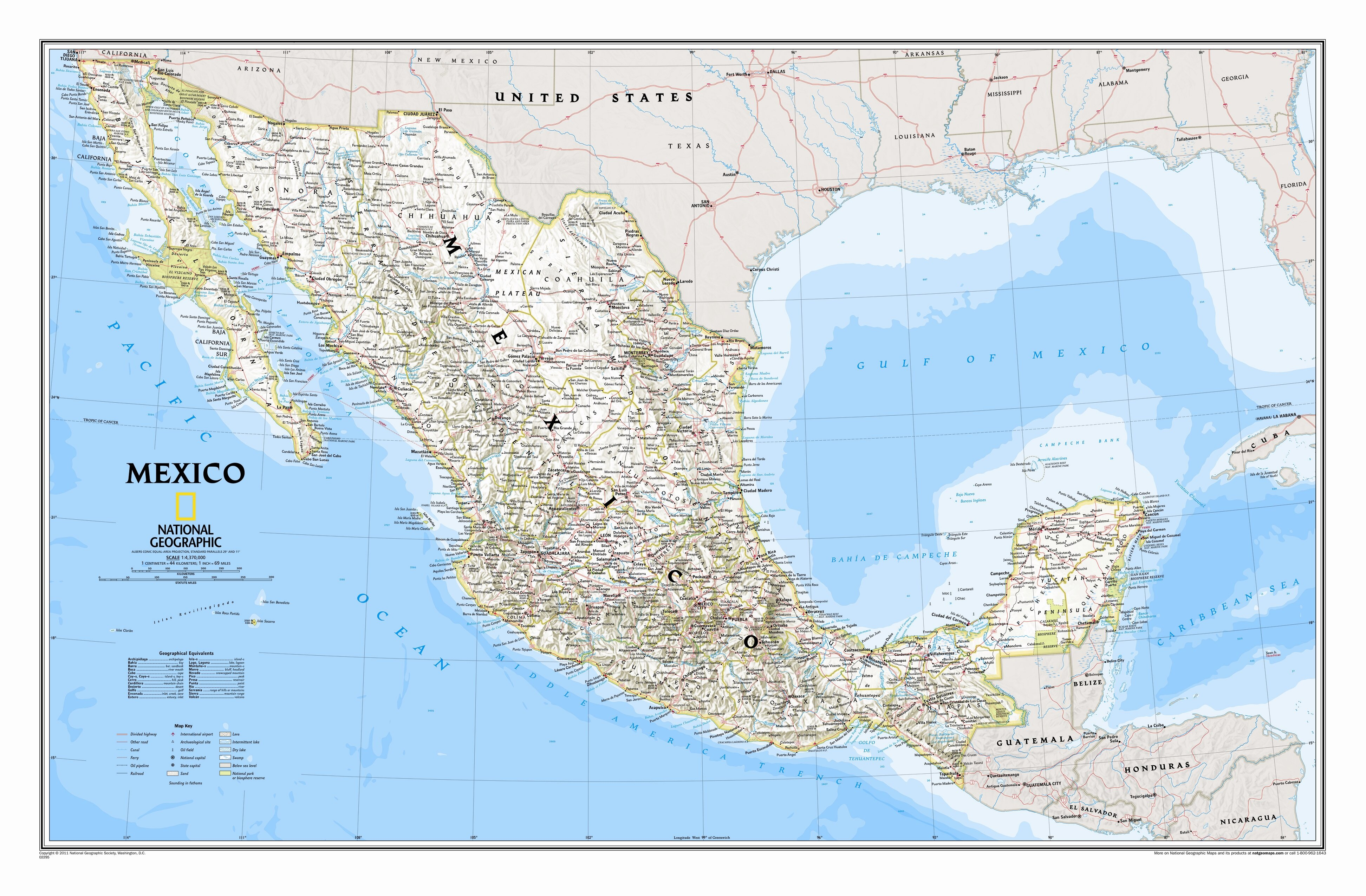 National Geographic Maps Mexico Classic Wall Map Reviews Wayfair