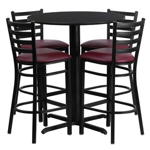 Wen 5 Piece Pub Table Set by Red Barrel S..