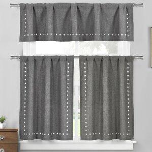 Star Valley Ranch 3 Piece Kitchen Curtain Set