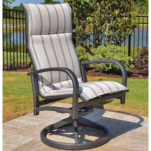 Terrabay Swivel Patio Dining Chair with Cushion (Set of 2)