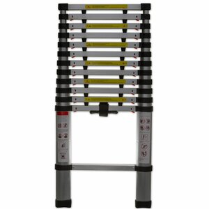 12.5 ft Aluminum Telescoping Extension Ladder with 330 lb. Load Capacity
