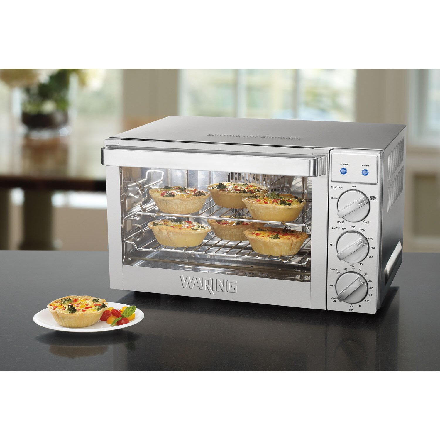 Waring 0.9-Cubic Foot Commercial Countertop Convection Oven ...