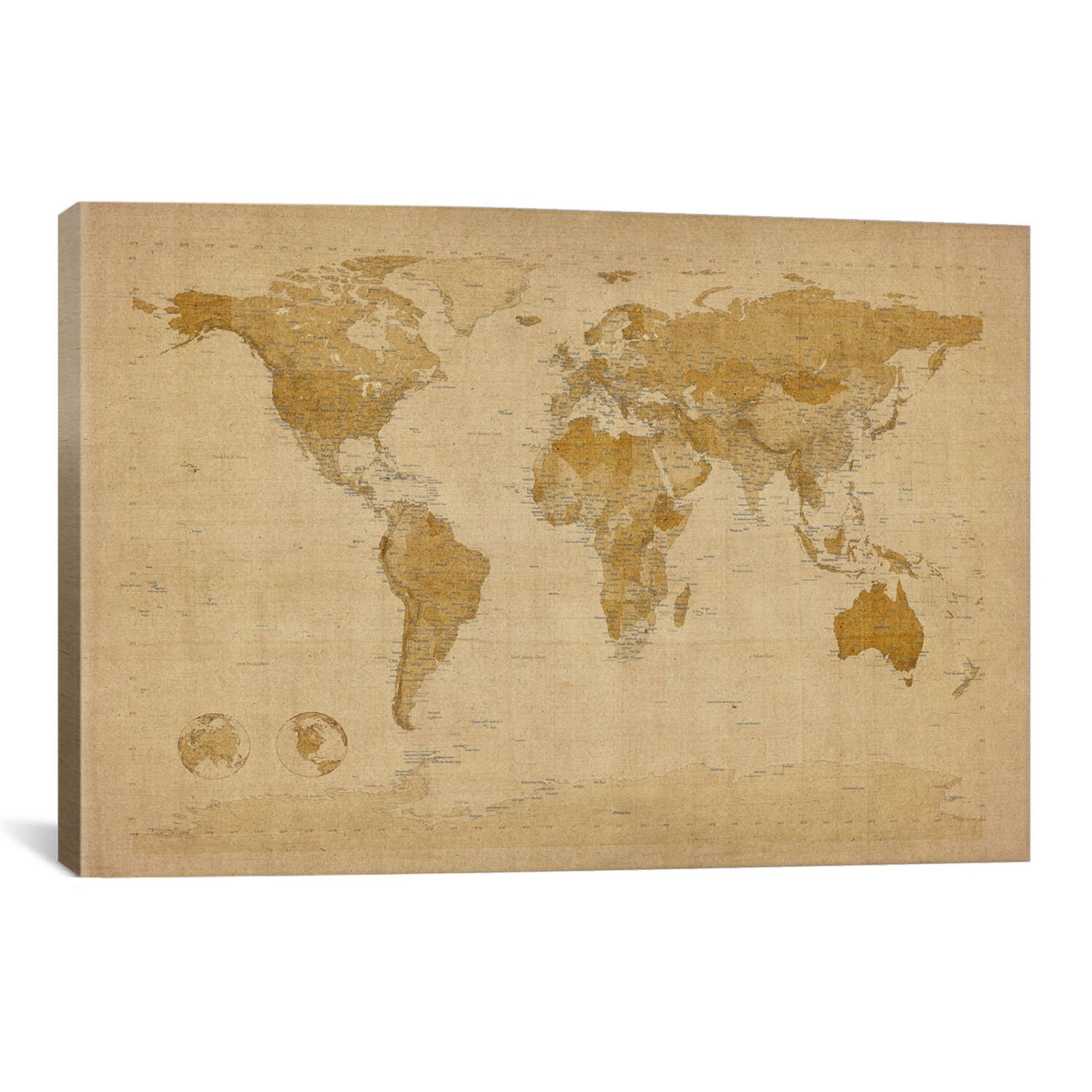 Kitchen Cabinets Lowes With Antique World Map Wall Art Icanvas 39antique World Map Ii39 By Michael Tompsett Graphic