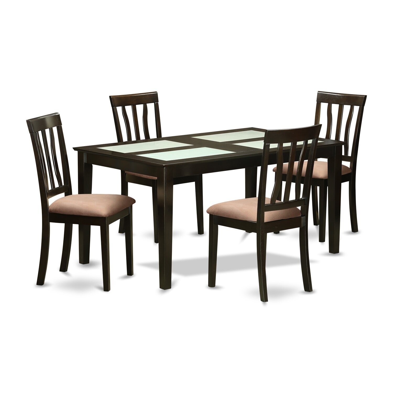 wooden importers capri 5 piece dining set wayfair