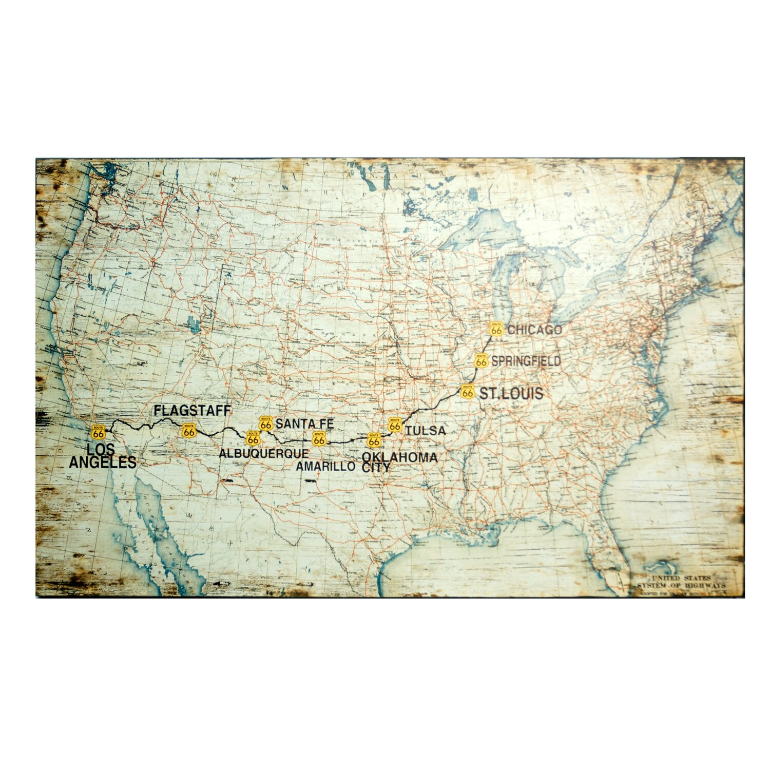 Route  Planner Route  Planner Map Of The Us States Printable - Map us highway route 66