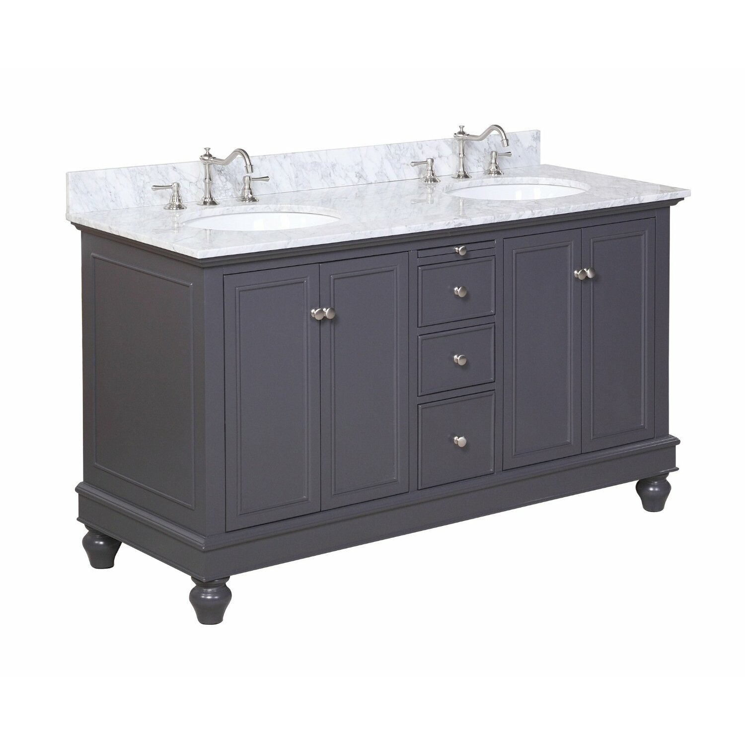 Kbc Bella 60 Double Bathroom Vanity Set Reviews Wayfair