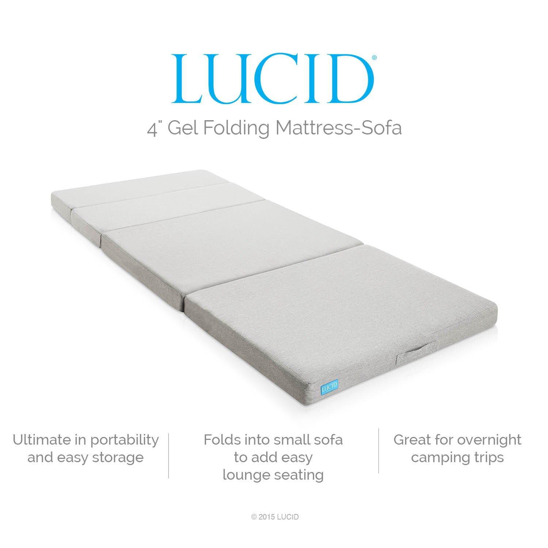Lucid 4 Medium Firm Gel Memory Foam Mattress Reviews