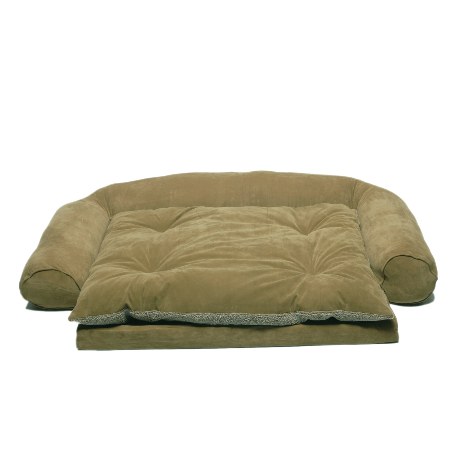 Dog bed couch orvis comfortfill couch dog bed small for Couch polster