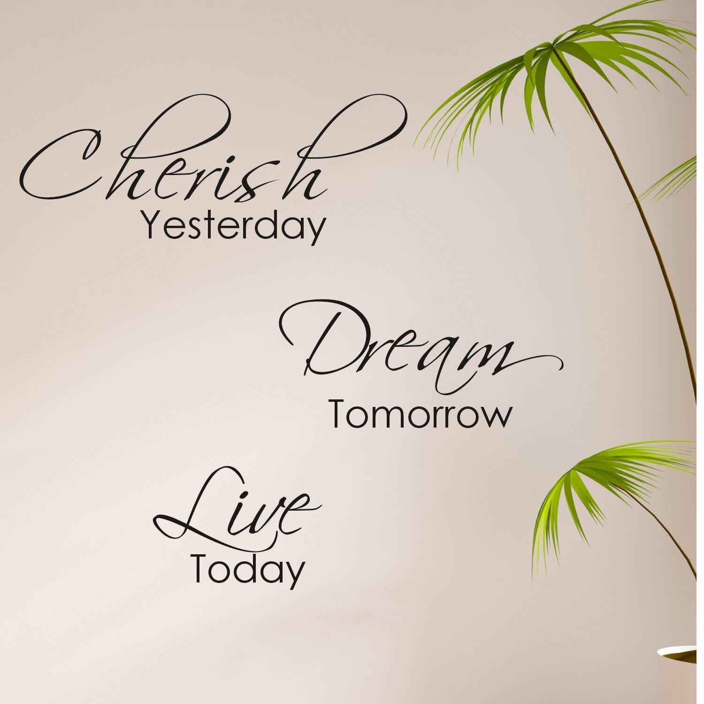 Items similar to Quote-Cherish Yesterday Dream Tomorrow