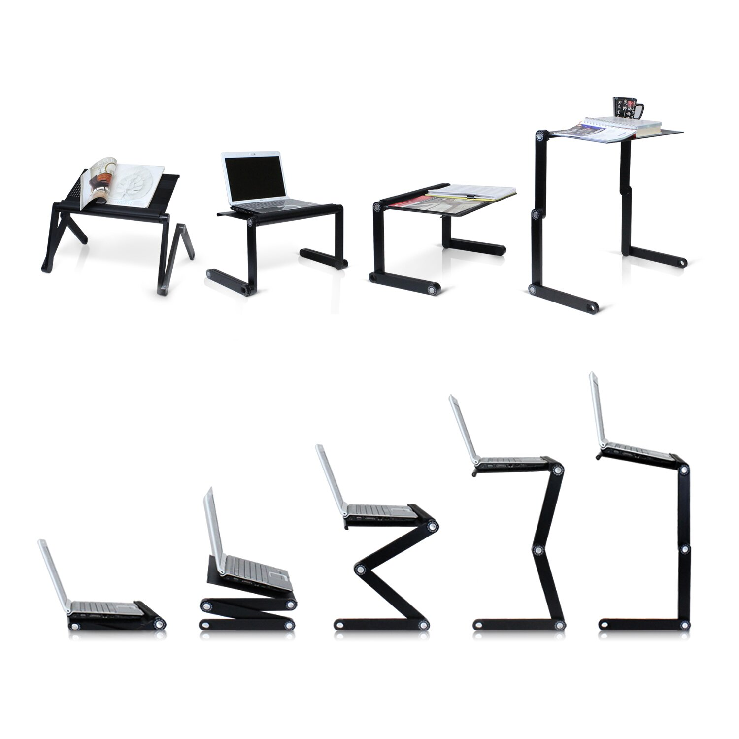 Laptop bed table tray - Vented Laptop Table Portable Bed Tray Book Stand