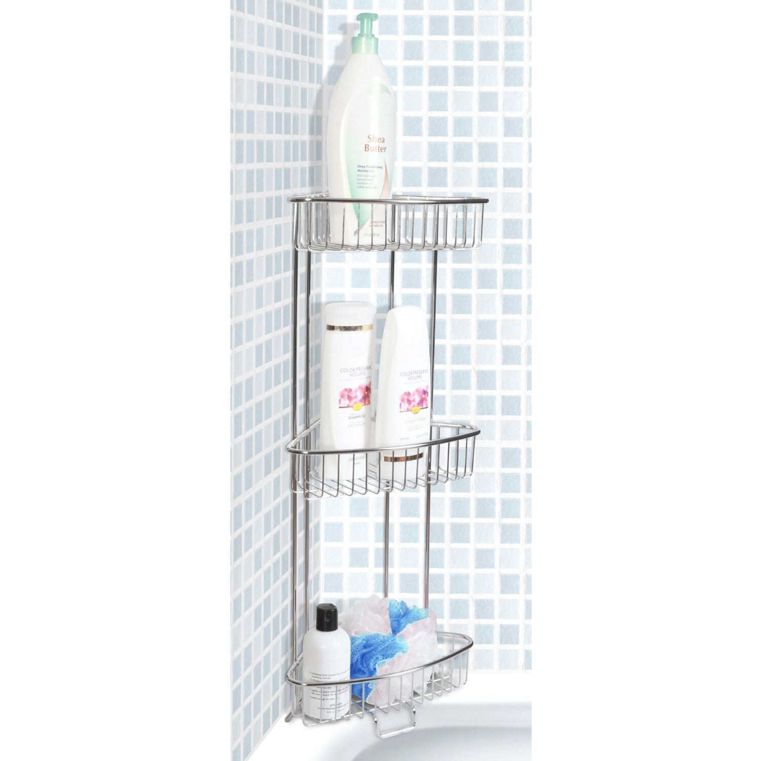 Toilet Tree Products Free Standing Shower Caddy & Reviews