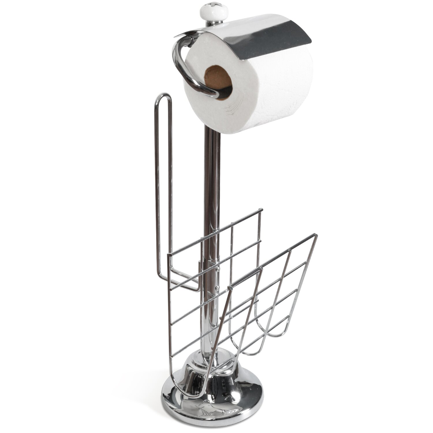 Toilet Tree Products Freestanding Toilet Paper Holder And Stand With Magazine Rack Reviews