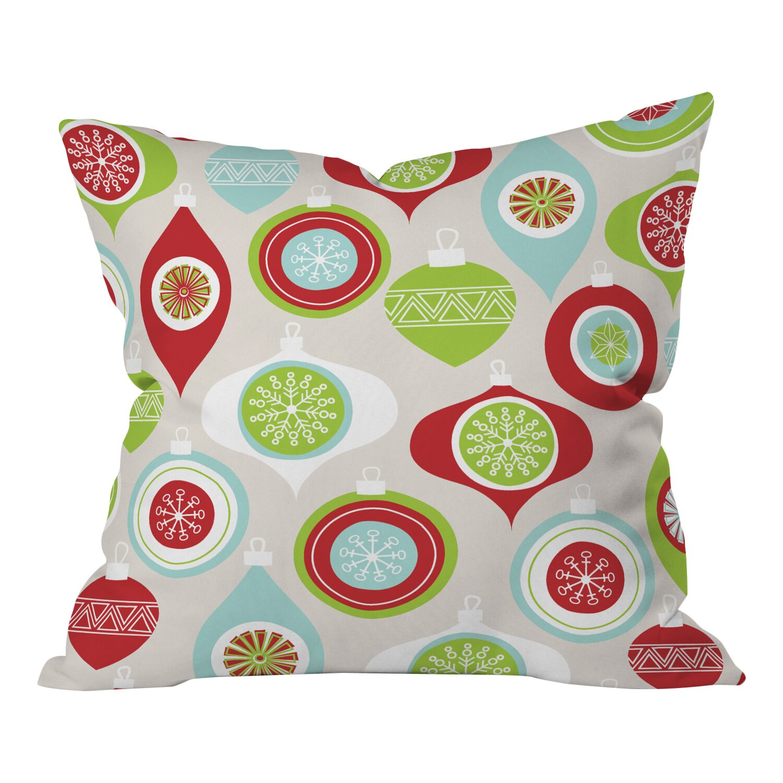 Decorative Pillows Victoria Bc : Deny Designs Andrea Victoria Jolly Ornaments Throw Pillow & Reviews Wayfair.ca