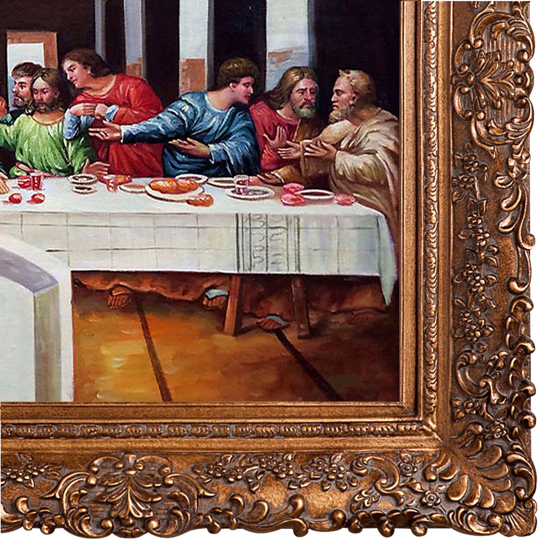 La Pastiche The Last Supper By Leonardo Da Vinci Framed