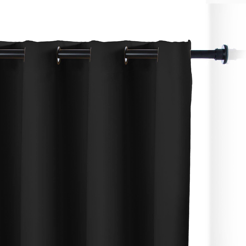 roomdividersnow premium heavyweight tension rod room divider kit reviews wayfair. Black Bedroom Furniture Sets. Home Design Ideas