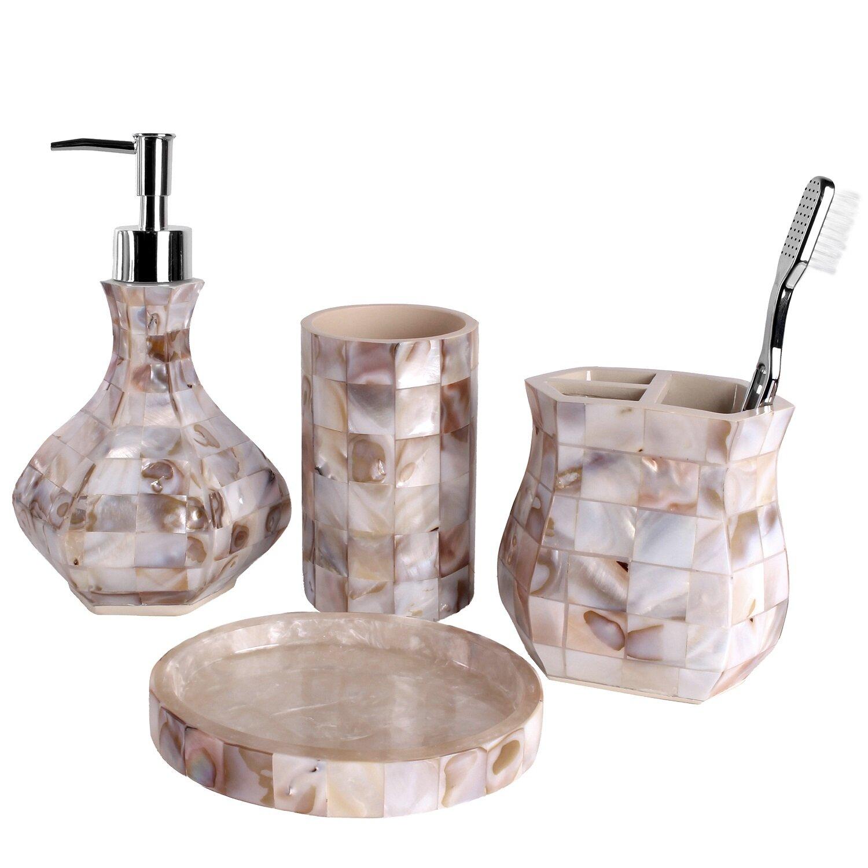 Creative scents milano 4 piece bathroom accessory set for Bathroom 4 piece set