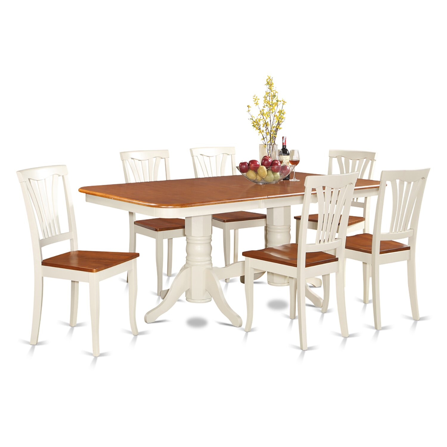 Wooden importers napoleon 7 piece dining set reviews for 2 piece dining room set