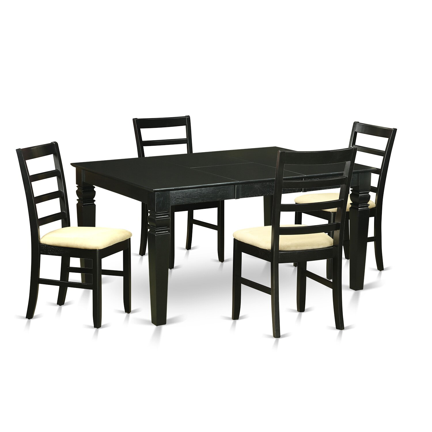 Wooden importers weston 5 piece dining set reviews wayfair for 13 piece dining table set