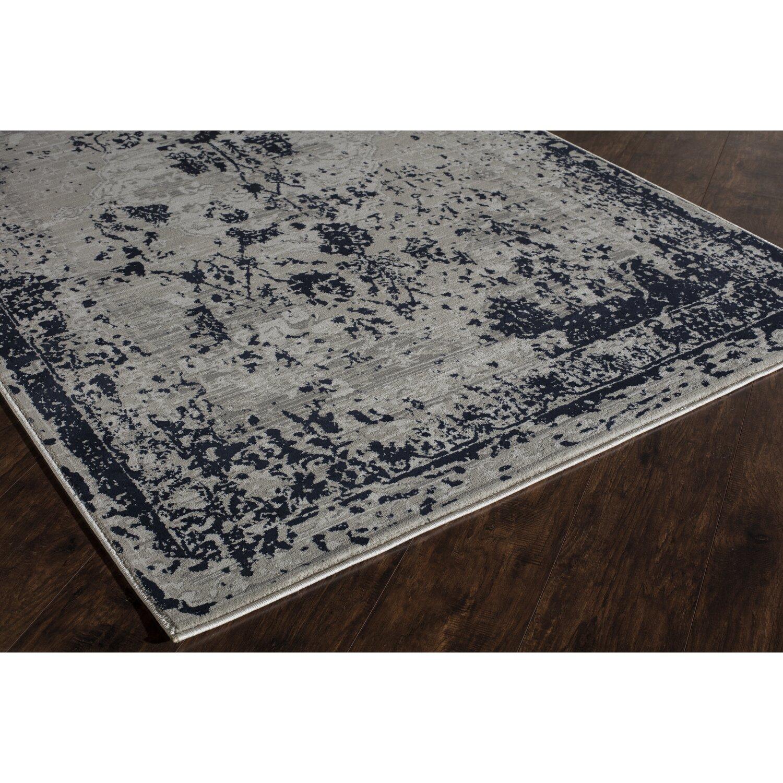 the conestoga trading co navy blue white area rug reviews wayfair. Black Bedroom Furniture Sets. Home Design Ideas