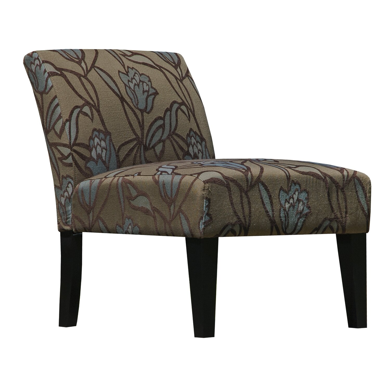 Graftonhome lotus flower armless living room slipper chair for Armless living room chairs
