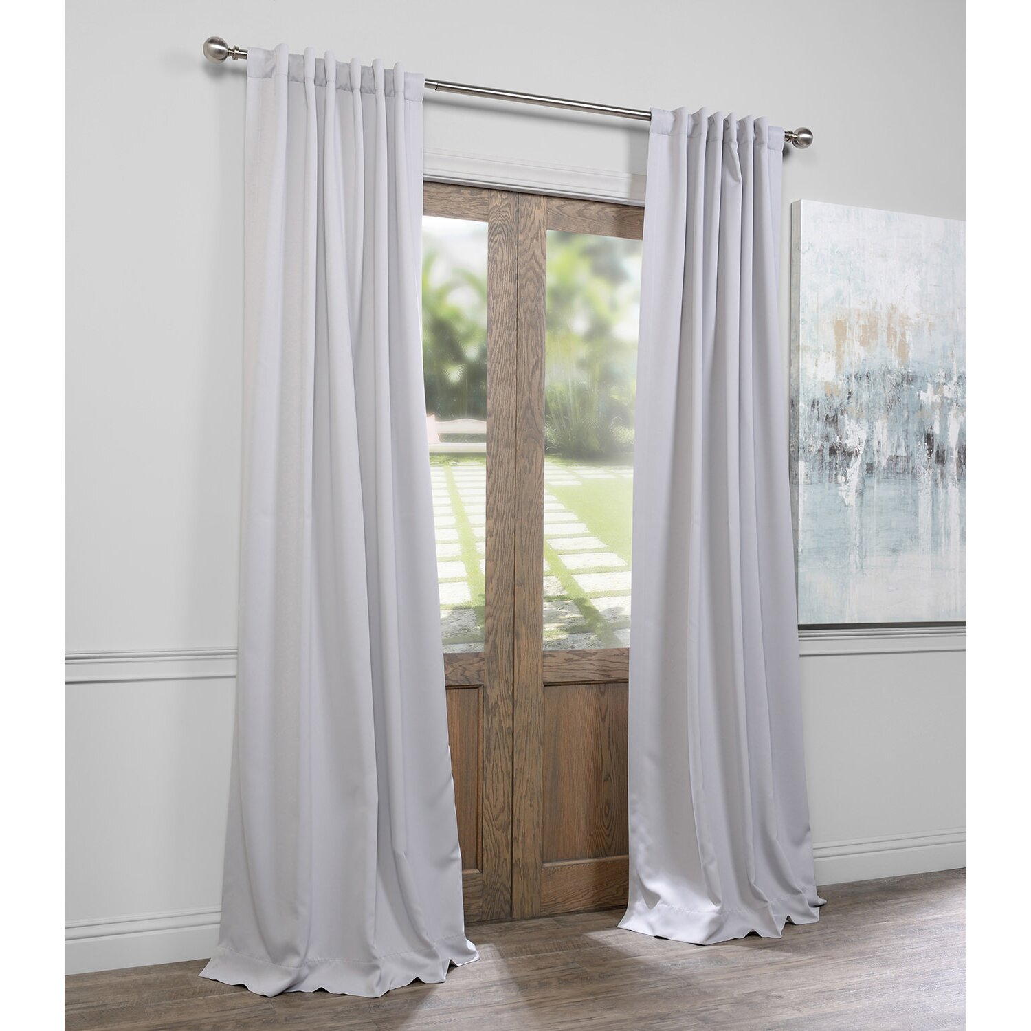 solid blackout thermal rod pocket curtain panels reviews birch
