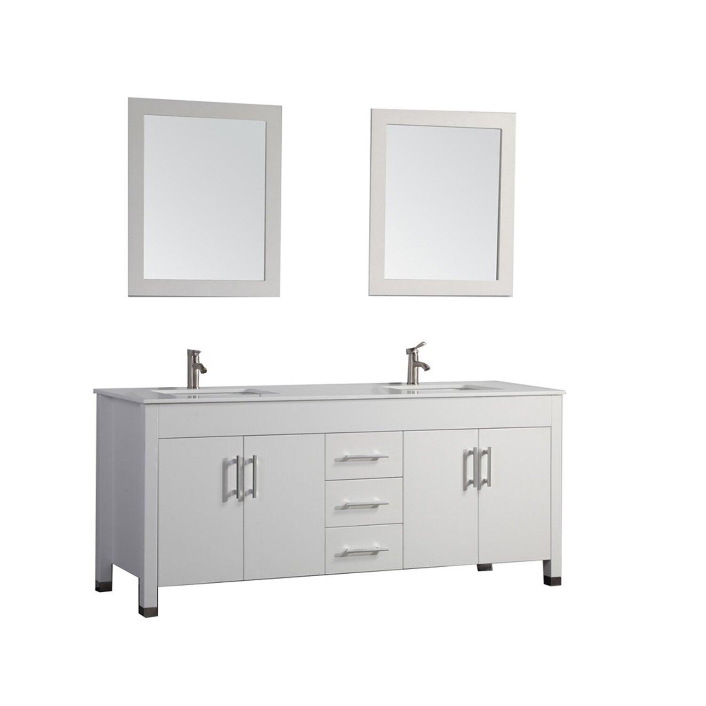 Innovative Double Sink Bathroom Vanity Ideas Undermount Sink Beige Ceramic Tile