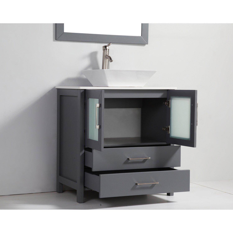 Mtdvanities tahiti 36 single modern bathroom vanity set with mirror reviews wayfair - Linden modern bathroom vanity set ...