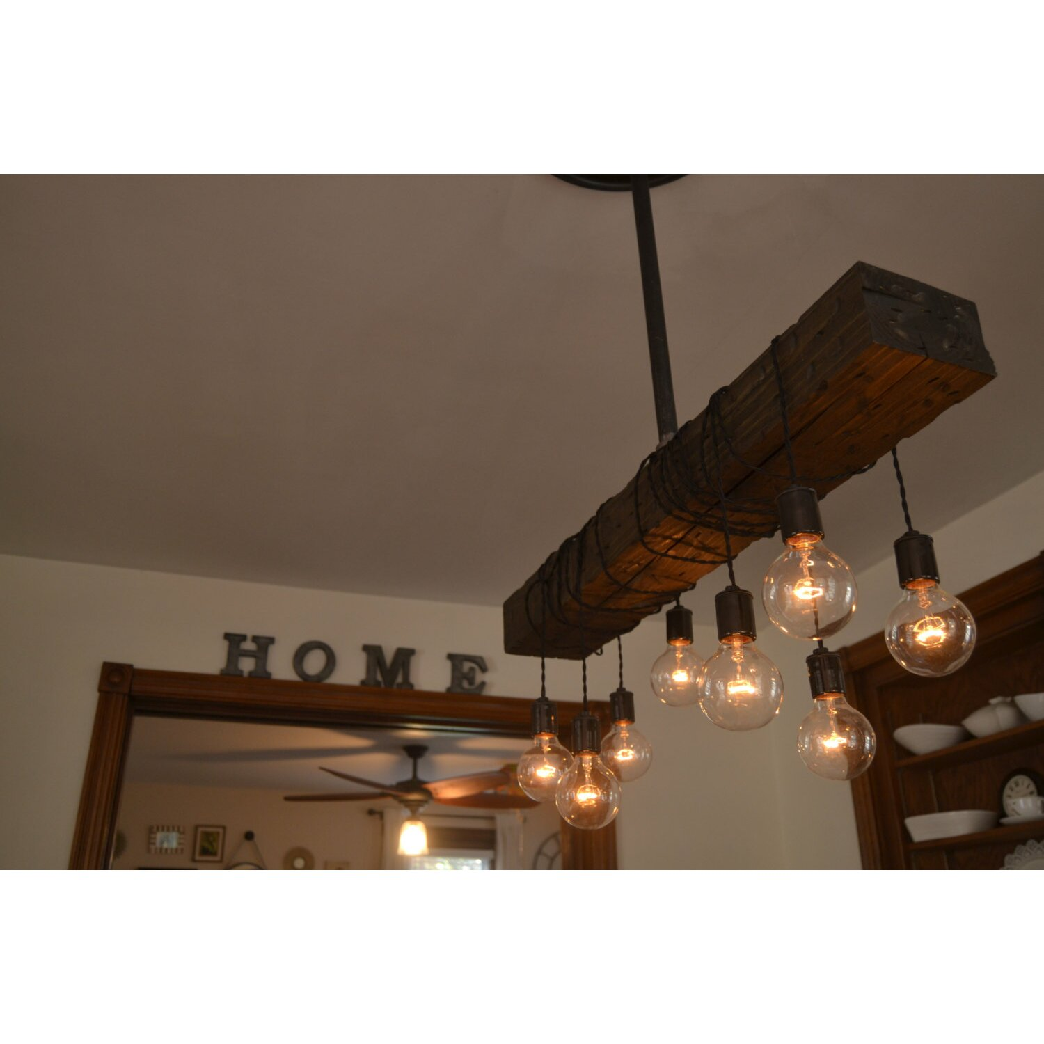 West ninth vintage 8 light kitchen island pendant for Suspension luminaire cage