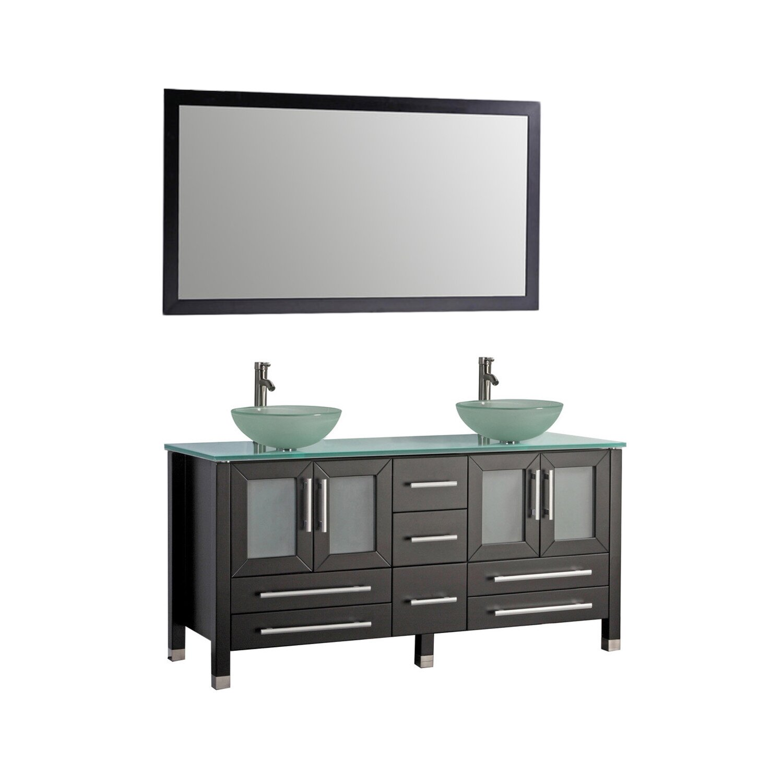 MTDVanities Cuba 61 Double Bathroom Vanity Set With Mirrors Revie