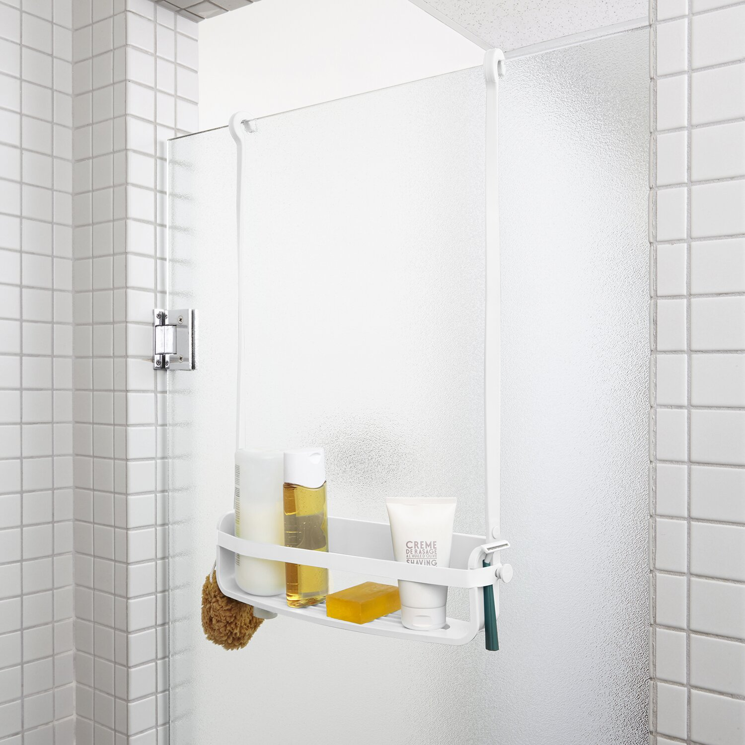 flex hanging shower caddy