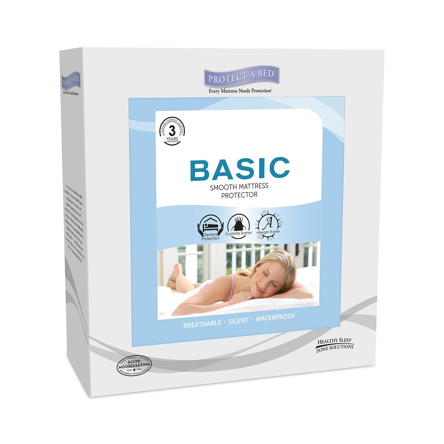 Protect A Bed Basic Fitted Hypoallergenic Waterproof