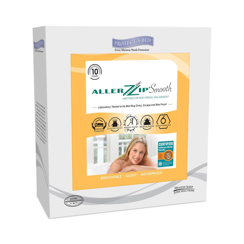 aller zip smooth antiallergy and bed bug proof waterproof mattress protector