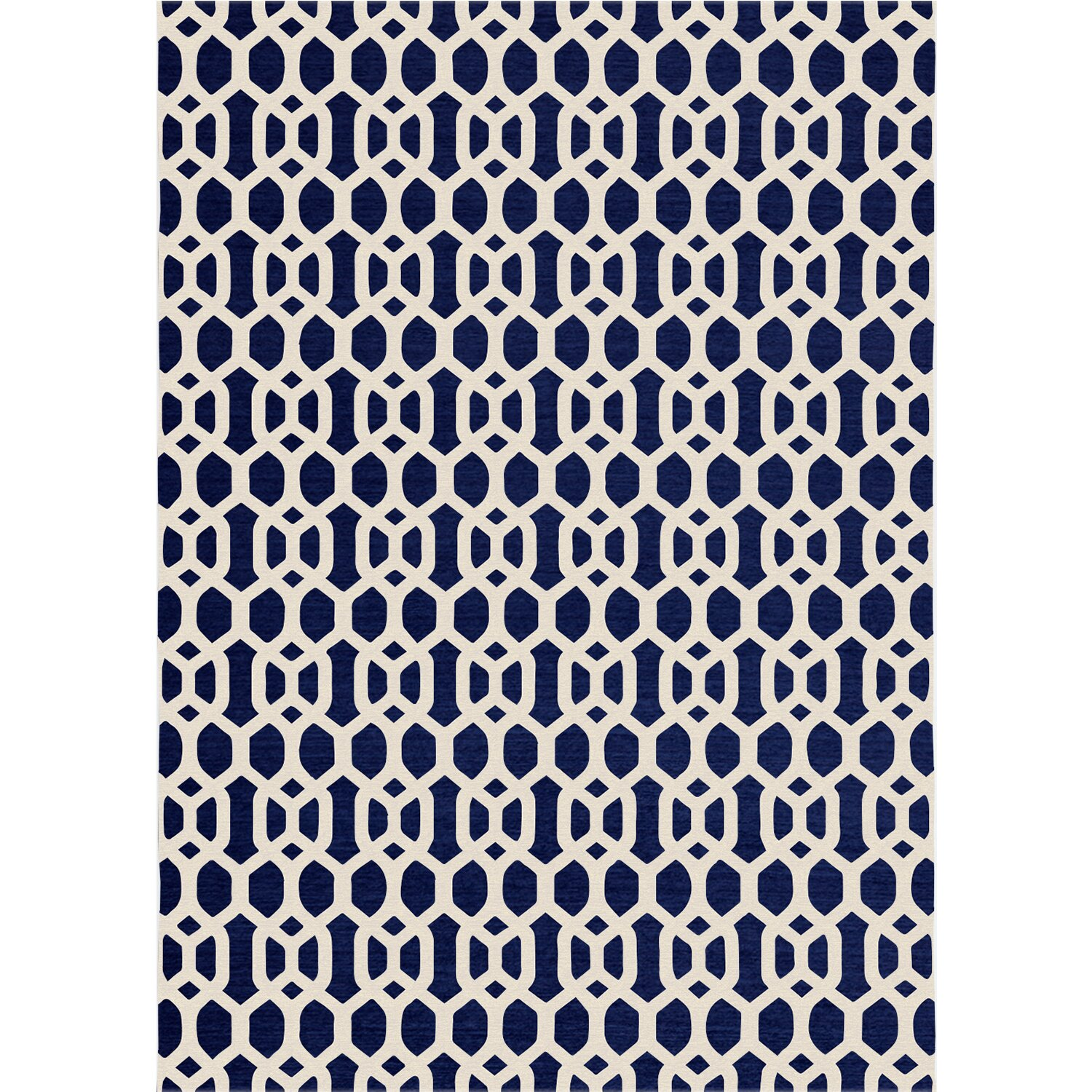 Ruggable Hand Woven Navy Blue Indoor Outdoor Area Rug
