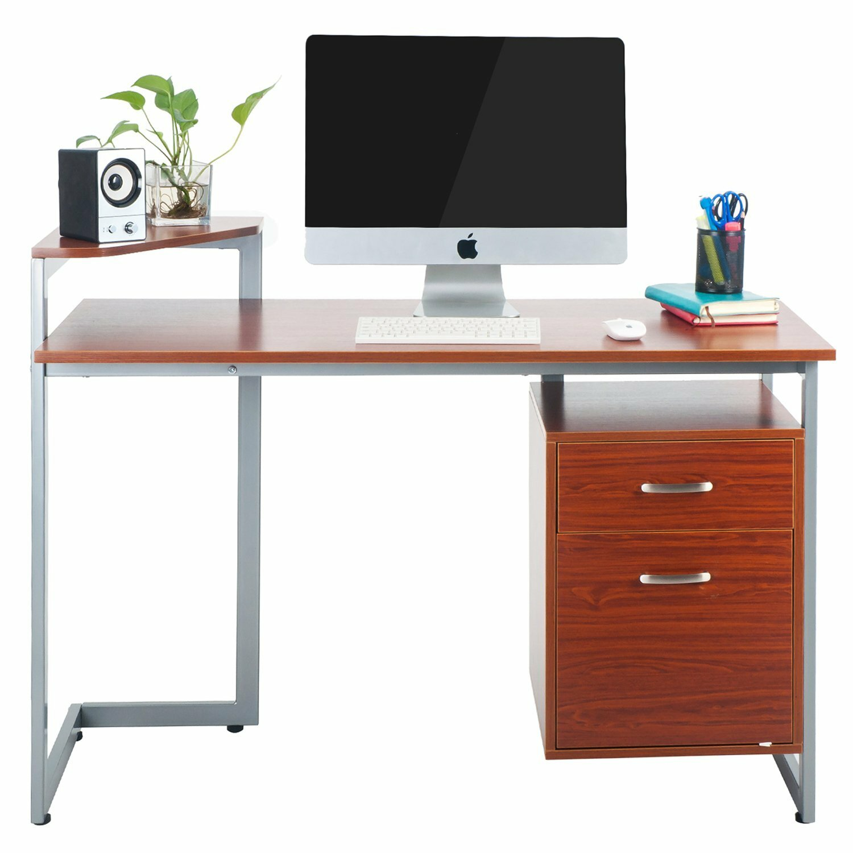Merax Computer Desk With 2 Drawers Amp Reviews Wayfair