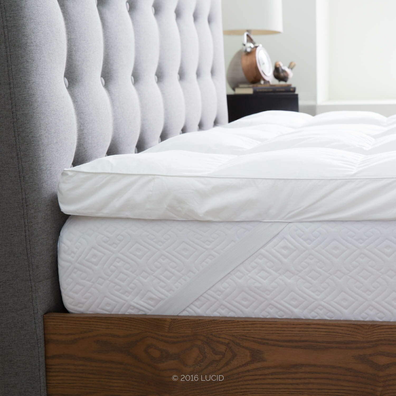 Lucid Down Alternative Fiber Mattress Topper & Reviews