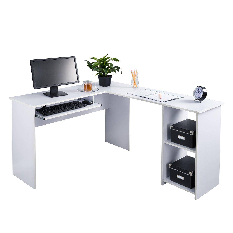 Fineboard Corner Keyboard Tray L Shaped Computer Desk