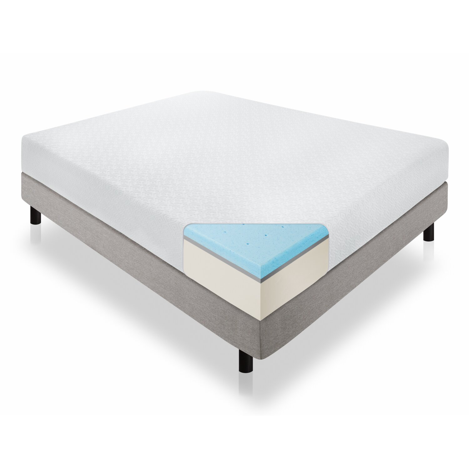 Lucid 12 plush gel memory foam mattress reviews Mattress sale memory foam