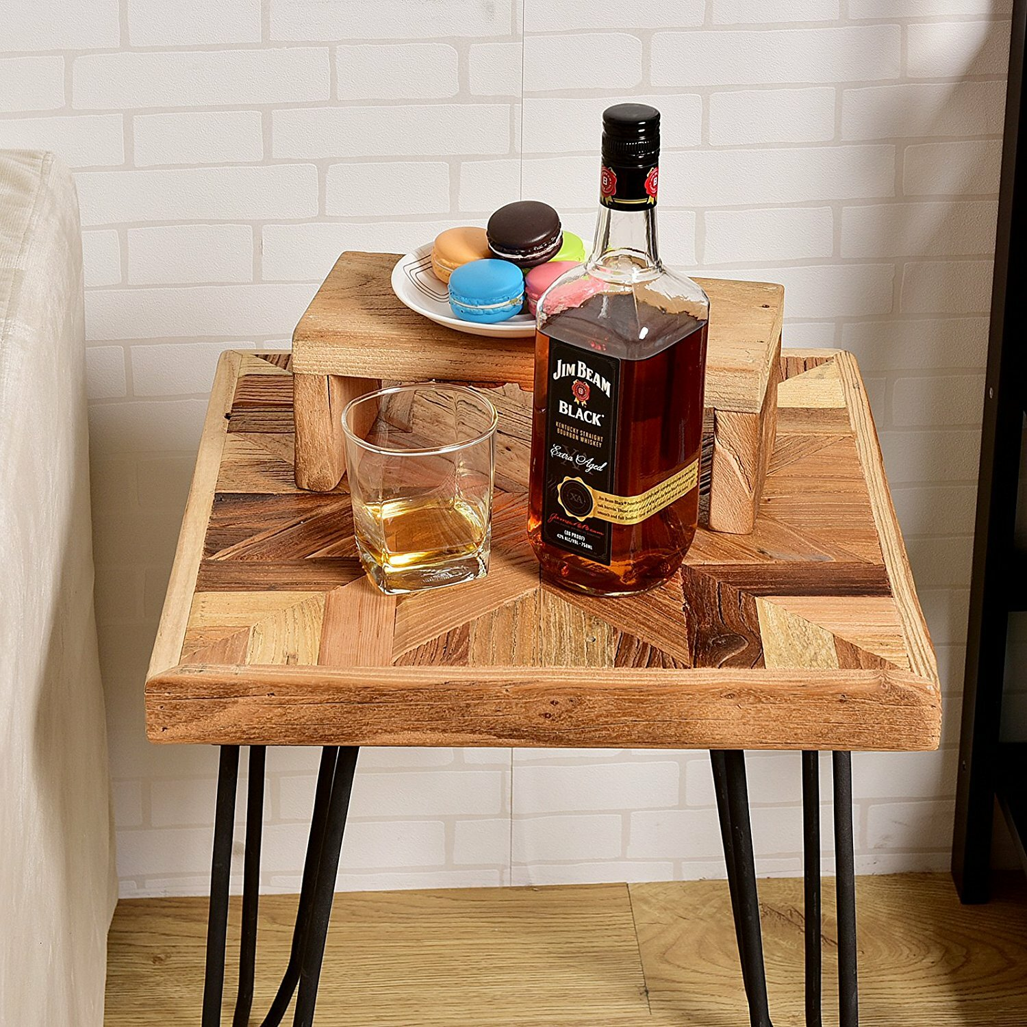 Welland industries llc old elm wood end table reviews for Abanos furniture industries decoration llc