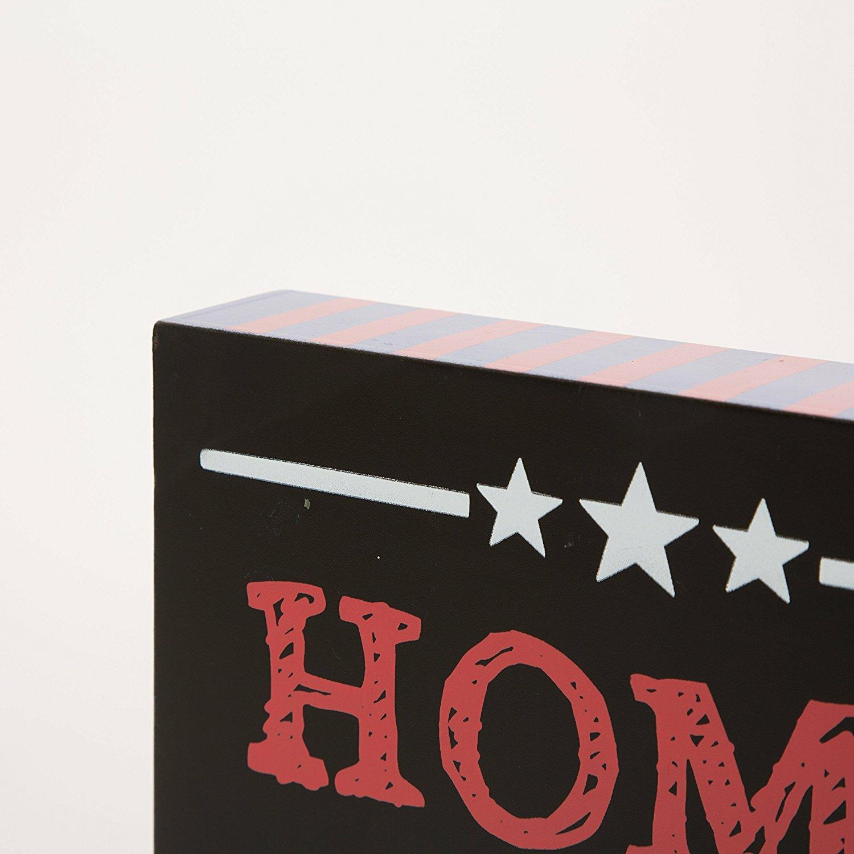 Americana Wall Decor Plaques Signs: Glitzhome Wooden Chalkboard Patriotic Word Sign Wall Décor