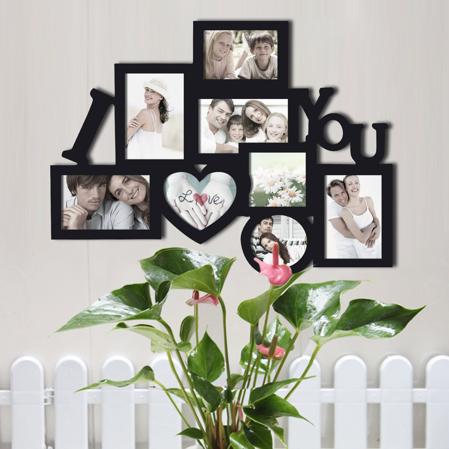 Wall Hanging Photo Frames Designs surprising wall hanging picture frame decorating ideas gallery in bedroom transitional design ideas 8 Opening Wooden Photo Collage Wall Hanging Picture Frame