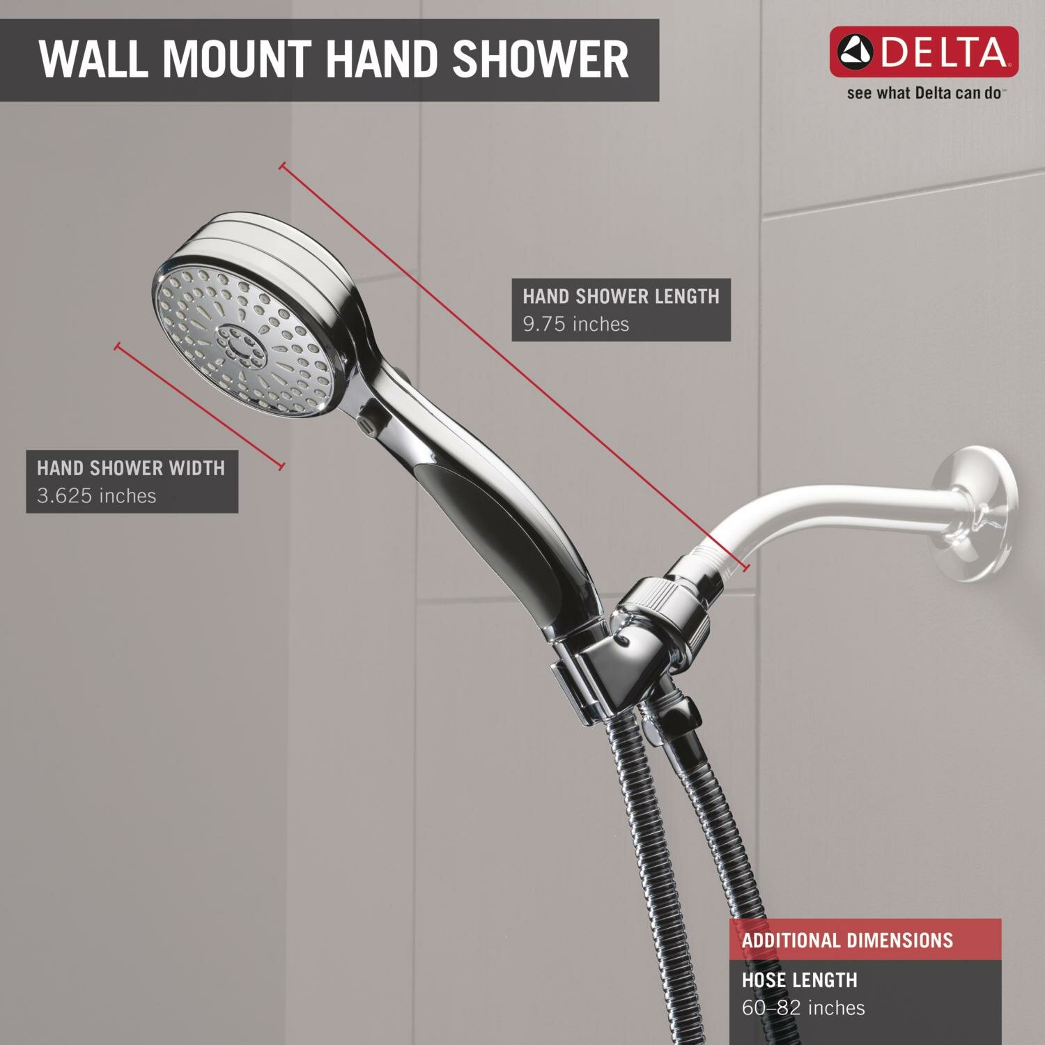 universal showering components handheld shower head