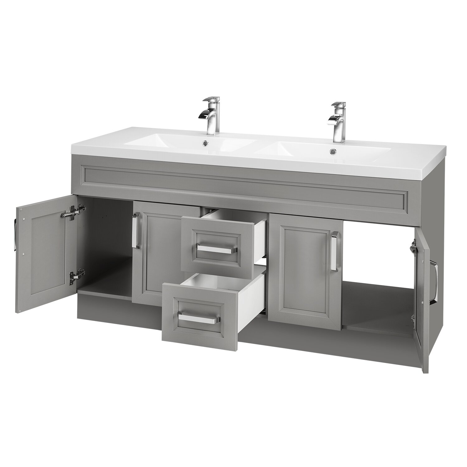 Cutler Kitchen Bath Urban 60 Vanity Double Bowl Reviews