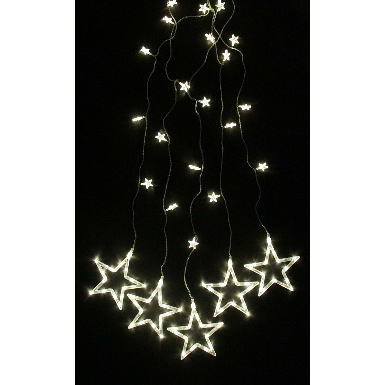 Curtain christmas lights - 100 Light Led Star Silhouette Window Curtain Christmas Lights