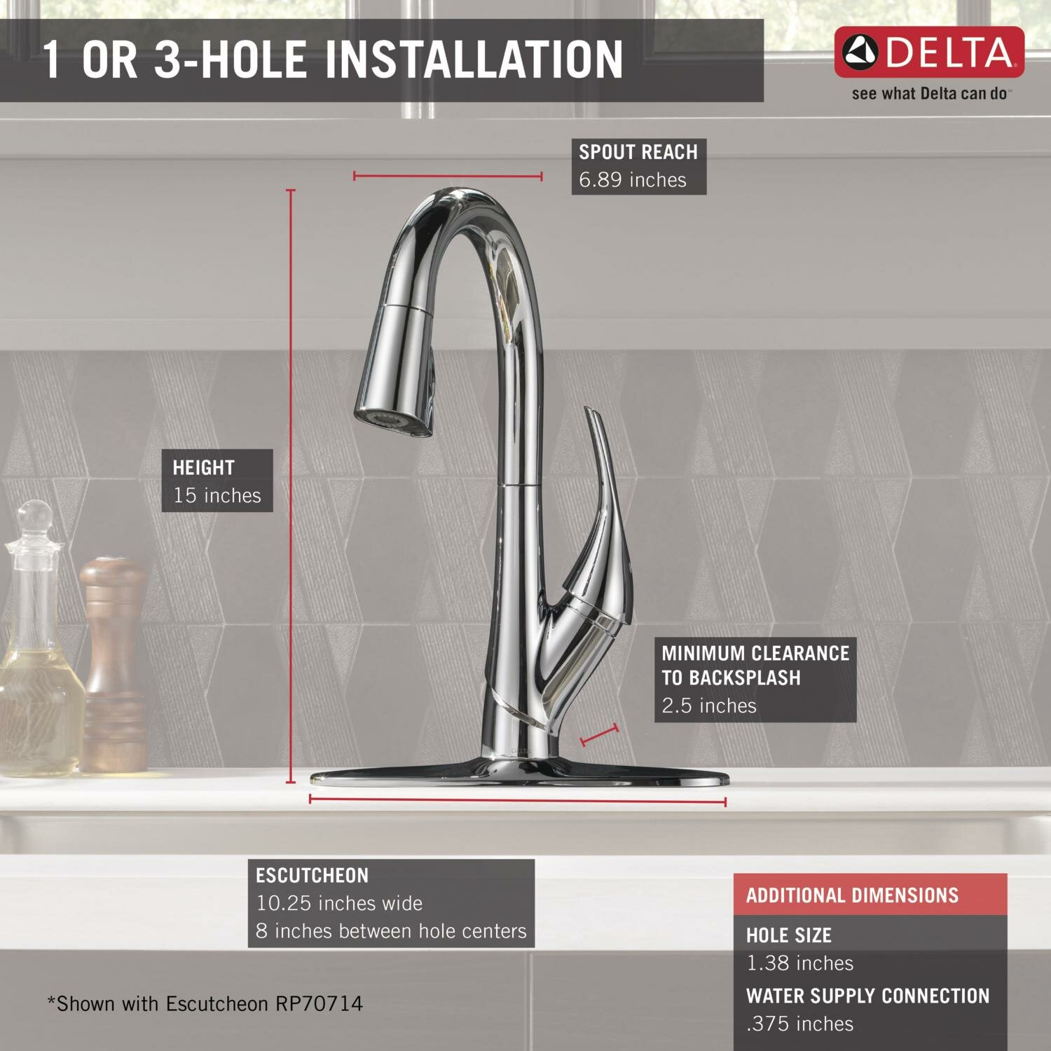 Delta Esque Single Handle Pull Down Bar Prep Kitchen Faucet Wayfair .