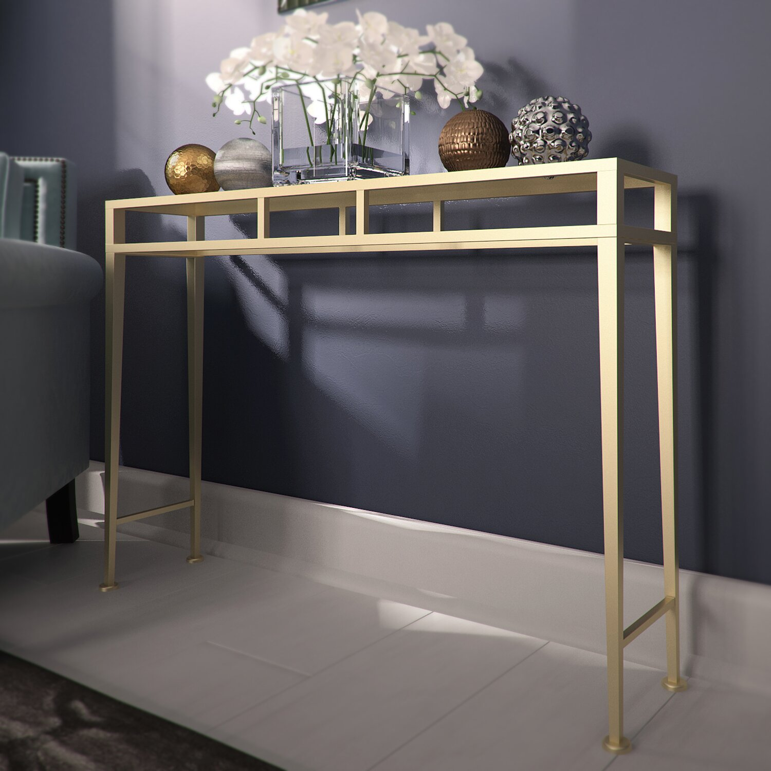 House of hampton console table reviews wayfair - Alluring mirrored console table for modern interior home furniture ...